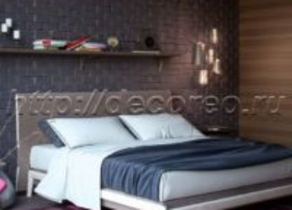 Двуспальная кровать модель 011