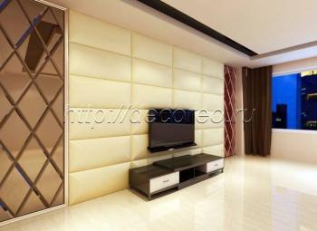 Мягкие панели в гостиную