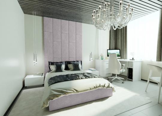 Кровать с мягкими панелями Leila