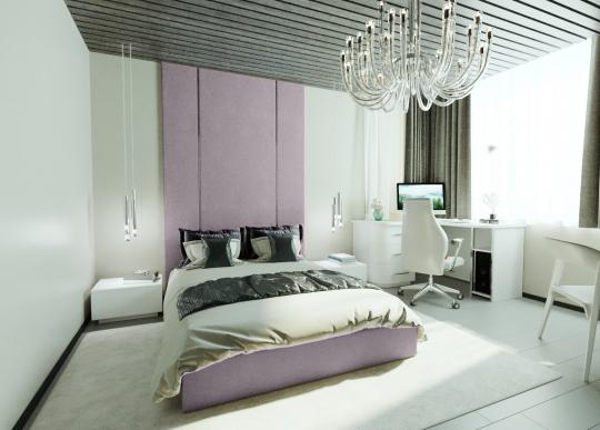 Кровать с мягкими панелями Pelitte
